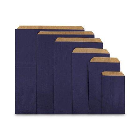 1000 x Geschenkzakjes 7 x 13 cm., All over donker blauw