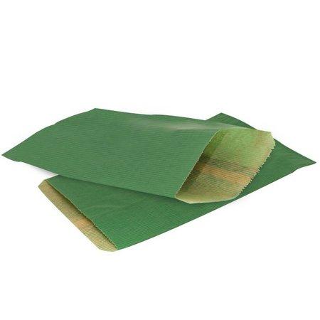 1000 x Geschenkzakjes 7 x 13 cm., All over donker groen