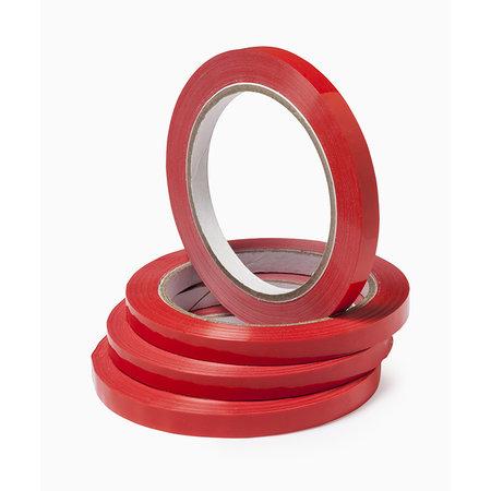 10 x Tape voor zakkensluiter rood 12mm x 66m grote kern