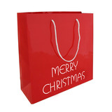 100 x Luxe Draagtas Merry Christmas 26+10x35cm