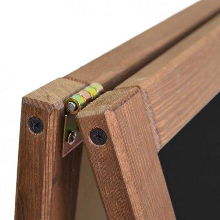 Krijtstoepbord - Dubbelzijdig - 100 x 60 cm.