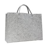 50 x Luxe Vilten tassen 45 + 14 x 34 cm., Grijs