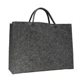 50 x Luxe Vilten tassen 45 + 14 x 34 cm., Donker Grijs