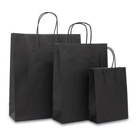100 x Papieren Jumbo tas - Bruin - Zwart - Wit