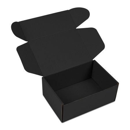 50 x Verzenddozen met klep - Zwart
