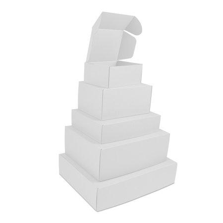 50 x Verzenddozen met klep - Wit