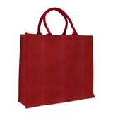 50 x Jute tassen 45 + 17 x 40 cm., Rood-Goud