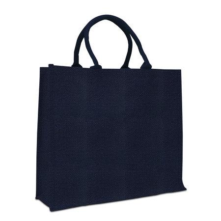 50 x Jute tassen 45 + 17 x 40 cm., Blauw-Goud