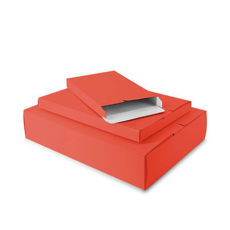 50 x Verzenddozen 24 x 2,9 x 35 cm., rood