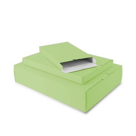 50 x Verzenddozen 24 x 2,9 x 35 cm., appel groen