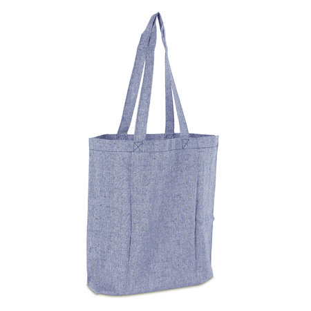 100 x Gerecyclede katoenen tassen - Blauw