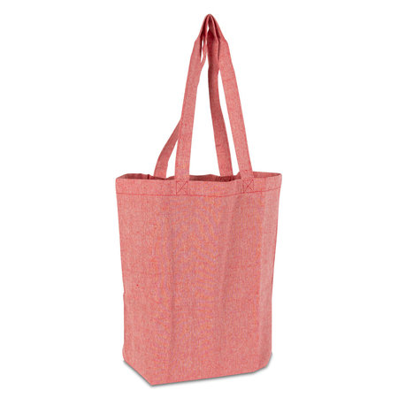 100 x Gerecyclede katoenen tassen - Rood