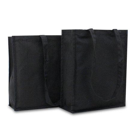 100 x Canvas shoppers - Zwart