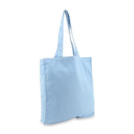100 x Canvas tassen - Lichtblauw