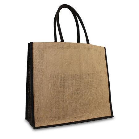 50 x Jute tassen 45 + 17 x 40 cm.  Zwart