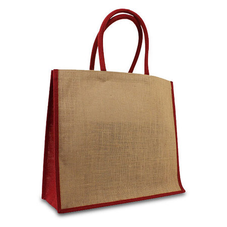 50 x Jute tassen 45 + 17 x 40 cm.  Rood