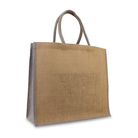 50 x Jute tassen 45 + 17 x 40 cm.  Grijs