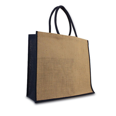50 x Jute tassen 45 + 17 x 40 cm.  Donkerblauw