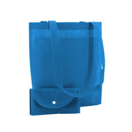 100 x Non woven opvouwbare tas - Blauw