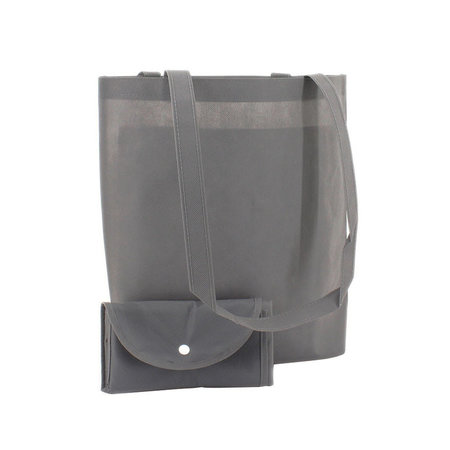 100 x Non woven opvouwbare tas - Grijs