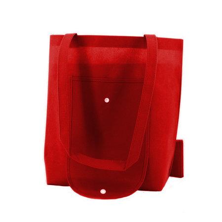 100 x Non woven opvouwbare tas - Rood