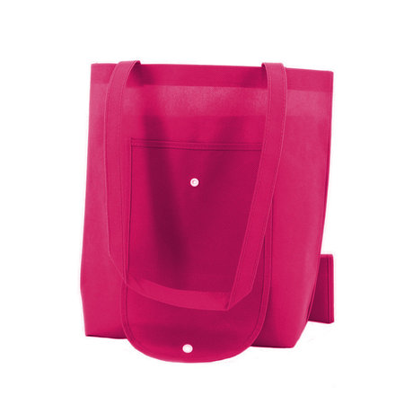 100 x Non woven opvouwbare tas - Roze