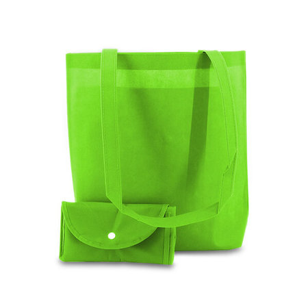 100 x Non woven opvouwbare tas - Groen