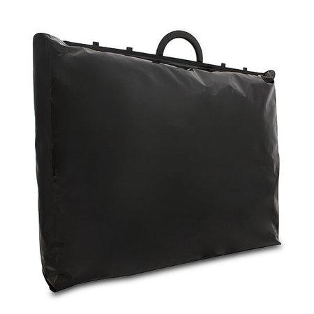 120 x Luxe plastic beugel tas - zwart