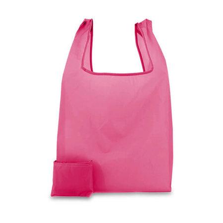 200 x Polyester opvouwbare tas - Roze