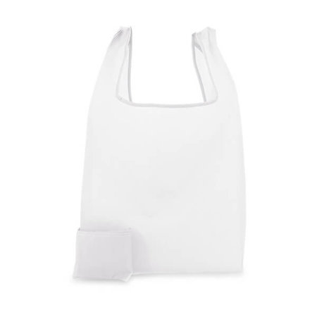200 x Polyester opvouwbare tas - Wit