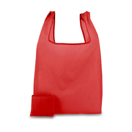 200 x Polyester opvouwbare tas - Rood