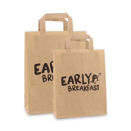 250 x Papieren snacktassen - Early Breakfast
