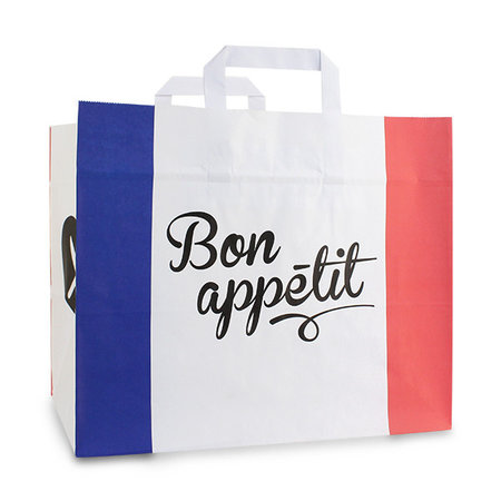 250 x Papieren snacktassen -Bon Appetit