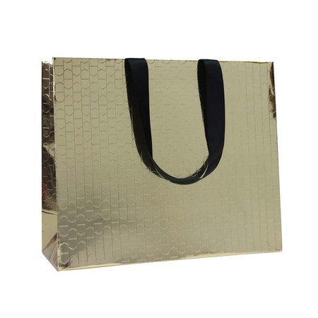 100 x Papieren tas - Katoenen koord - Beauty Goud
