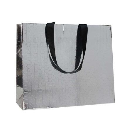100 x Papieren tas - Katoenen koord - Beauty Zilver