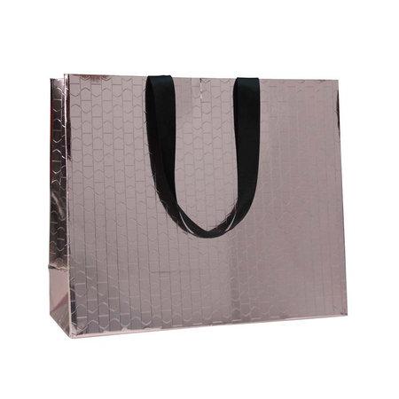 100 x Papieren tas - Katoenen koord - Beauty Brons
