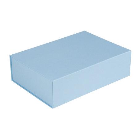 25 x Magneetdozen lichtblauw 23 x 23 x 11 cm