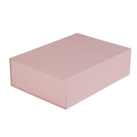 25 x Magneetdozen oud roze 23 x 23 x 11 cm