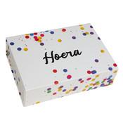 25 x Magneetdozen Confetti - Hoera