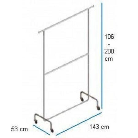 Kleiderständer mit 2 Etagen,  Breite 143 cm