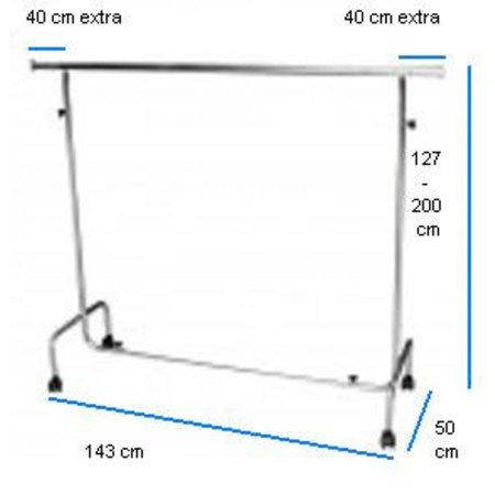 Kleiderständer - Verstellbar - Breite 143 cm