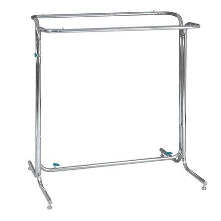 Konfektionsständer - Doppelseitige Präsentation - Breite 120 cm - Chrom