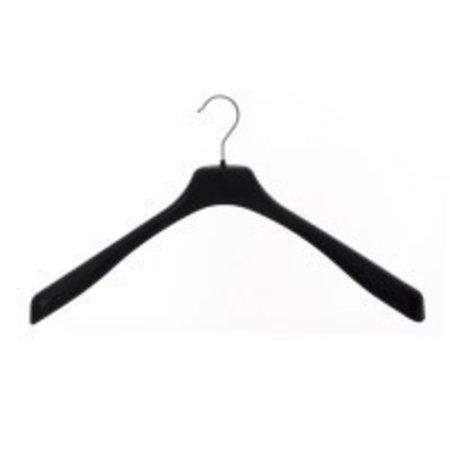 70 x Jumbo-Kleiderbügel 50cm ohne Steg Schwarz
