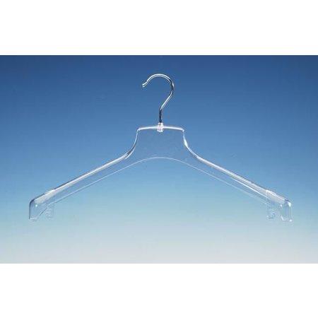100 x Transparenter WGM Kleiderbügel, 43cm breit.