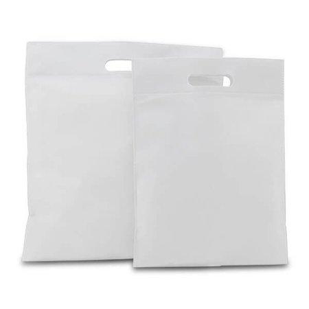 400 x Non-Woven Tragetaschen 30 x 40 cm., Weiß
