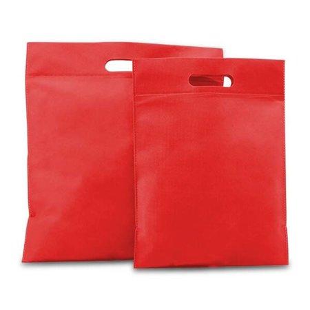 400 x Non-Woven Tragetaschen 40 x 45 cm., Rot