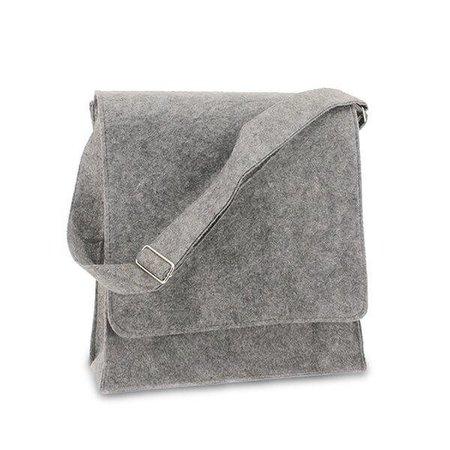 50 x Postmenbag Filz, 33+12x35 cm, hellgrau