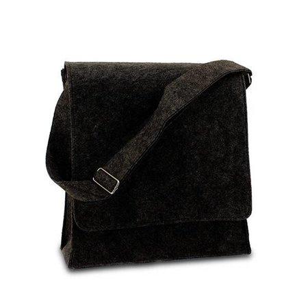 50 x Postmenbag Filz, 33+12x35 cm, schwarz