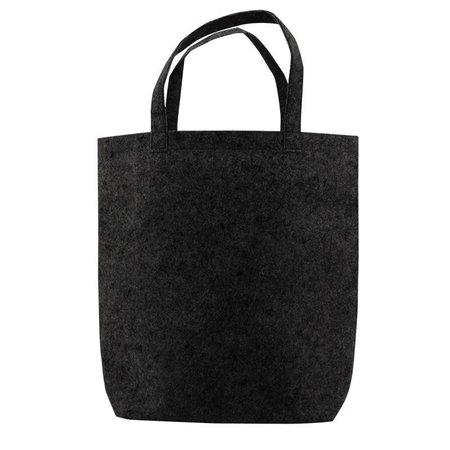 50 x Einkaufstaschen Filz 42 x 42 + 12cm  schwarz