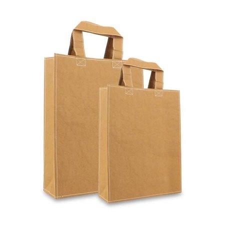 100 x ZEROTREE® Taschen 20 + 8 x 26 cm., Natur-braun